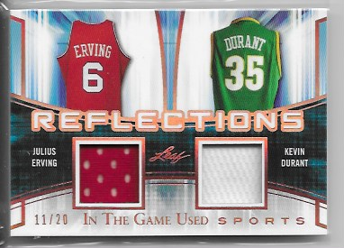 new styles 73804 8076c 2018 Leaf in the game used Julius Erving / Kevin Durant dual game worn  jersey /20