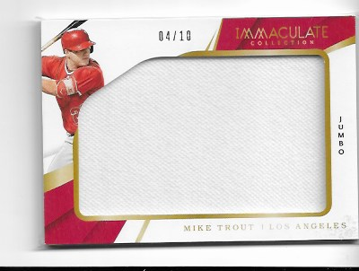 low priced ea37a 49659 2018 Panini Immaculate Mike Trout Jumbo Game worn JERSEY /10