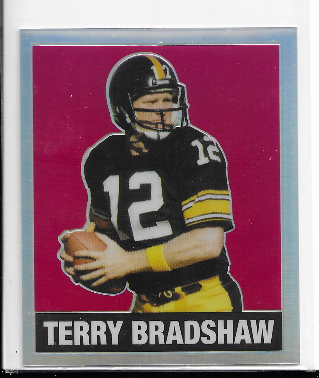 newest 7b411 7a41a 2018 Leaf originals metal Terry Bradshaw 1948 throwback RED refractor /3