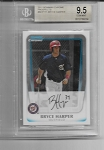 2011 Bowman Chrome Bryce Harper Prospect Rc BGS 9.5 GEM mint
