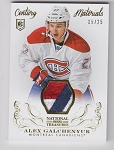 2013-14 National Treasures Alex Galchenyuk GOLD parallel 3 color game Worn rookie Patch /25