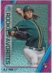 2020 Bowman Chrome Rookie Favorites A.J. Puk refractor rc /199