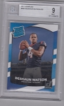 2017 Donruss Football Deshaun Watson Rated Rookie BGS Mint 9