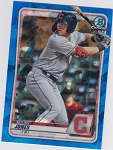 2020 Bowman Chrome Sapphire Nolan Jones Prospect rc