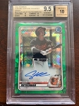 2020 Bowman Chrome Sapphire Prospect Green Adley Rutschmann auto BGS 9.5 Gem Mint /50