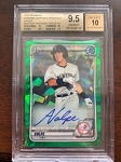 2020 Bowman Chrome Sapphire Prospect Green Anthony Volpe auto BGS 9.5 Gem Mint /50