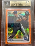 2020 Bowman Chrome Sapphire Prospects Orange /75 Bobby Witt Jr. BGS 9.5 Gem Mint
