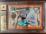 2020 Bowman Chrome Sapphire Prospect Orange Auto Xavier Edwards BGS 9.5 Gem Mint