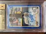 2020 Bowman Chrome Sapphire Prospect Blue Luis Patino Auto BGS 9.5 Gem Mint