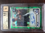 2020 Bowman Chrome Sapphire Prospects Auto Green Bobby Witt Jr. BGS 9.5 Gem Mint