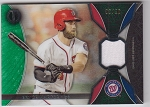 2017 Topps Tribute Bryce Harper Green Parallel Jersey Patch /192
