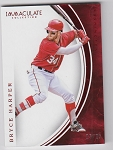 2016 Panini Immaculate Baseball Bryce Harper Red Parallel /25