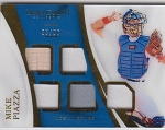2017 Panini Immaculate Baseball Mike Piazza Gold Parallel 5 Piece Relic (Bat/4 Jersey Patch) /99