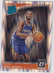 2018-19 Panini Donruss Optic Rated Rookie Shock Refractor Mikal Bridges