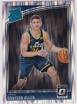 2018-19 Panini Donruss Optic Rated Rookie Shock Refractor Grayson Allen