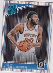2018-19 Panini Donruss Optic Rated Rookie Shock Refractor Mitchell Robinson