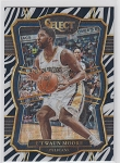 2017-18 Panini Select Basketball E'twaun Moore Premier Level Zebra Refractor