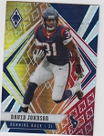 2020 Panini Phoenix fanatics exclusive David Johnson fire burst refractor