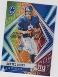 2020 Panini Phoenix fanatics exclusive Daniel Jones fire burst refractor