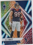 2020 Panini Phoenix fanatics exclusive J.J Watt fire burst refractor
