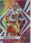 2020 Panini Phoenix fanatics exclusive George Kittle fire burst refractor