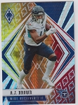 2020 Panini Phoenix fanatics exclusive A.J. Brown fire burst refractor