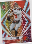 2020 Panini Phoenix fanatics exclusive Baker Mayfield fire burst refractor