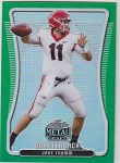 2020 Leaf Metal Draft Jake Fromm green refractor rookie rc /7