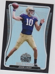 2020 Leaf Metal Draft Jacob Eason black refractor rookie rc /10