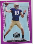 2020 Leaf Metal Draft Jacob Eason pink refractor rookie rc /10