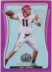 2020 Leaf Metal Draft Jake Fromm pink refractor rookie rc /15