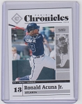 2020 Panini Chronicles Baseball Ronald Acuna Jr. Card