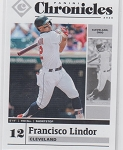 2020 Panini Chronicles Baseball Francisco Lindor Card