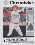 2020 Panini Chronicles Baseball Shohei Ohtani Card