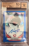 2014 Bowman Chrome Draft Pick Auto Blue Refractor Nick Gordon 1st Bowman BGS 9.5 Gem Mint