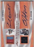 2018 Leaf In the game used Bo Jackson / Earl Campbell dual Patch / Auto /9