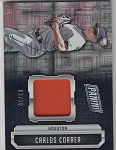 2016 Panini National Carlos Correa etches squares refractor patch /10