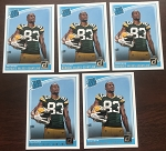 2018 Panini Donruss Rated Rookie Marquez Valdes-Scantling 5 Card Lot