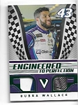 2018 Panini Victory Lane Bubba Wallace Green Parallel dual race used relic /49