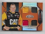 2018 Panini certified Ryan Newman Quad Race used Relic card /99