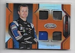 2018 Panini certified Kasey Kahne Quad Race used Relic card /99