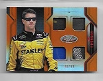 2018 Panini certified Carl Edwards Quad Race used Relic card /99