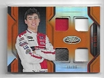 2018 Panini certified Ryan Blaney Quad Race used Relic card /99