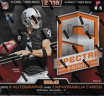2018 Panini Spectra Football Hobby Box  4 auto's / 7 Relics Look For reverse boxes!!