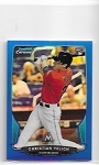 2013 Bowman Chrome Mini Edition Christian Yelich rookie Blue refractor rc  /99