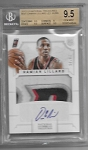 2012-13 National Treasures Damian Lillard Patch / Auto rc /99 BGS 9.5 Gem