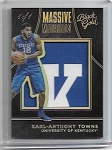 2016-17 Black Gold Collegiate Karl Antony Towns Kentucky LOGO Patch rc 1/1