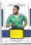 2018 National Treasures David Ospina Game worn Jersey card /99
