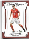2018 National Treasures Granit Xhaka Gold Parallel  /25