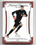 2018 National Treasures Gianluigi Donnarumma Silver Parallel /50